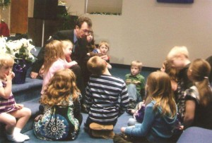 Children's Time in Worship with Pastor Potter